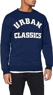 Urban Classics 男士大学印花圆领运动衫