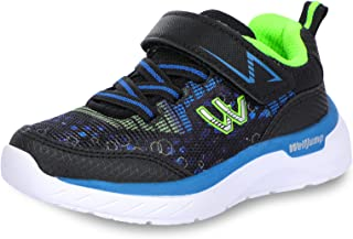 Welljump 男孩女孩运动鞋儿童轻质透气网眼可爱系带运动跑鞋 适合小孩子/幼儿