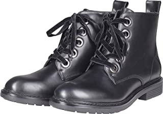 Urban Classics 女士靴子天鹅绒蕾丝战斗靴