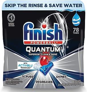 Finish Quantum 78 克拉,洗碗机洗涤剂,终极清洁和光泽,洗碗机片,终极清洁和光泽,78 片