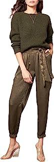 BB Dakota 女式口袋科学缎慢跑裤,黑色,XS 码