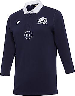 Macron SRU M20 女士棉质衬衫袖复刻版主场球衣棉3/4女士苏格兰橄榄球 2020/21