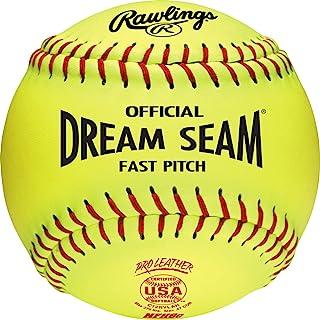 Rawlings Sporting Goods C12RYLAH 官方 ASA Dream Seam Fast Pitch 垒球(一打),黄色,尺码 12