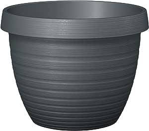 Scheurich Country Star,塑料种植容器,金属灰色,直径30厘米,高22.4厘米,12升体积。