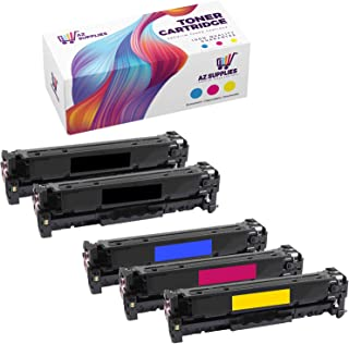 AZ Supplies Toner | 30% more Print Performance | 5-Pack replace for HP 128A, CE320A, CE321A, CE322A, CE323A for use in HP ...