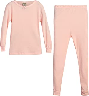 Sweet & Sassy 女童保暖内衣上衣和裤子两件套 桃红色 14-16