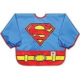 Bumkins DC漫画超人有袖围兜/婴儿围兜/幼儿围兜/罩衣,防水,耐水洗,耐污渍和防臭,6-24个月