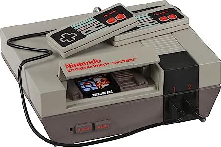 Hallmark 纪念品圣诞节装饰品 2020,任天堂娱乐系统 NES 控制台带灯光和*马里奥兄弟。 游戏声音