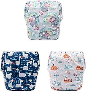 ALVABY 游泳尿布 3 件均码可重复使用和可调节迎婴派对礼物 3SWY13