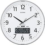 CITIZEN 西铁城【高精度温湿度计】 带【警告音】 电波调节挂钟 Inform Navi 银色 4FY618-019…