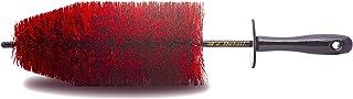 EZ Detail 刷子 大号 - 红色 - 轮缘清洁器,适用于汽车、自行车、卡车、摩托车和其他车辆。防刮自动细节工具,轻松触及鼻子和起重机