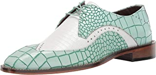 STACY ADAMS 男士 Trazino Croco-Lizard Print Wingtip 系带牛津鞋