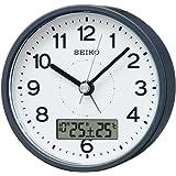 セイコークロック 置き時計 グレーメタリック 本体サイズ:9.9×9.9×5.6cm 電波 アナログ KR333N