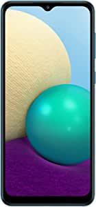 SAMSUNG 三星 Galaxy A02 4G LTE解锁全球Volte(64GB,3GB)手机,6.5英寸(约16.51厘米),双摄像头,双卡(AT&T Tmobile Metro拉美欧洲)(不适用于Verizon Boost),国际型号,SM-A022M / DS(蓝色)