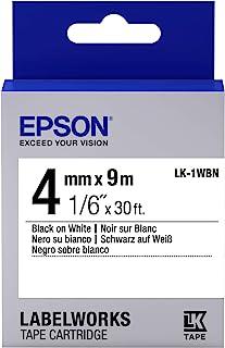 EPSON Ribbon LK-1WBN 白色/黑色