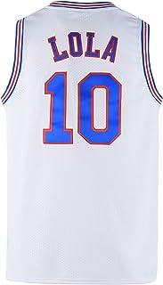 COMTOP 青年 #10 LOLA 太空运动衫 儿童篮球运动衫 男孩用 白色/黑色 S-XL