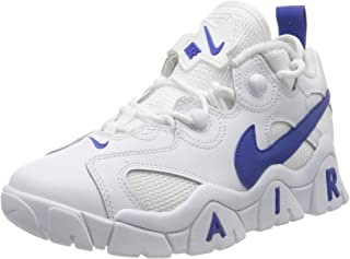 Nike 耐克 男童 Air Barrage Low (Gs) 篮球鞋,白色蓝色