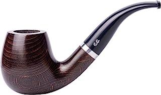 木制烟草吸烟管 手工雕刻 金属冷却过滤器 附带袋 盒装(Maigret)