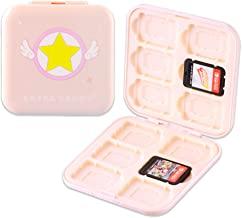BelugaDesign 动漫游戏卡套   小型 Nintendo 任天堂 Switch 游戏盒存储器   粉彩粉色卡套 樱花美少女月亮旅行支架