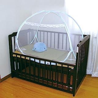 萩原 蚊帐 带底部 一触式 带收纳袋 白色 约108X77X89厘米 婴儿用婴儿被 婴儿床尺寸 158003060