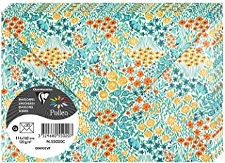 Clairefontaine 55020C 信封 橡胶材质 11.4 × 16.2 厘米 120 克 花朵主题 Capucine