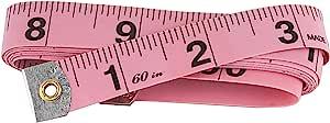 SINGER 粉红色乙烯基卷尺152.4cm