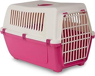 MP Bergamo 运输篮 Vision 60 塑料门,适用于猫,13千克,粉红色