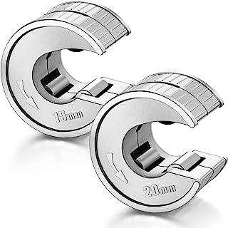 2 件管切割器 1/2 英寸和 3/4 英寸锌合金管切割器适用于铝铜 PVC PPR 不锈钢管,圆形
