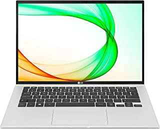 LG gram 14Z90P - 14 英寸超轻笔记本电脑,16:10 大屏幕,WUXGA (1920x1200),DCI-P3 99%,Intel evo 由核心 i5 处理器,8GB/256GB,Alexa 内置,72Wh 电池,Thund...