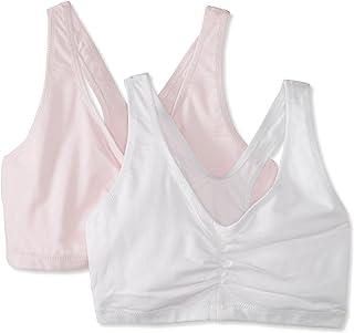 Hanes 女式舒适混纺弹性套头文胸(2 件装)