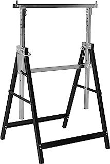 Meister Metallbock 200 千克 – 可折叠 – 可变工作高度 800 – 1300 毫米 – 7级高度调节 – 带闩锁 / 金属底座底座 / 伸缩工作台 / 5258110