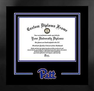 Campus Images NCAA 匹兹堡黑豹队中性款精神文凭曼哈顿黑框附赠平版版画,黑色,均码