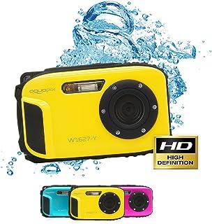 Aquapix W1627-Y 海洋水下数码相机,黄色,带锂离子电池