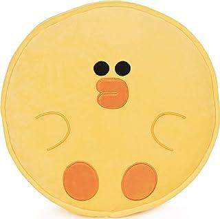 GUND LINE Friends Sally 圆形抱枕柔软毛绒填充,黄色,12 英寸(约 30.5 厘米)