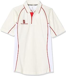 Surridge Sports 儿童七分袖板球衬衫,红色,均码