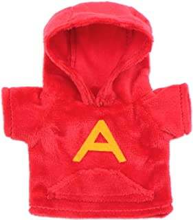 Alfie Pet - Maverick 连帽衫,适用于松鼠、鼠、奇奇奇拉、大鼠、Gerbil 和矮仓鼠 - 颜色:红色