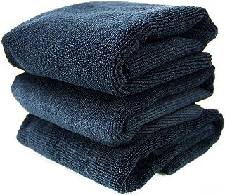Chemical Guys MIC_805_3 Monster无边缘超细纤维毛巾,黑色(16英寸/约40.64厘米x 16英寸/约40.64厘米)(3件装)