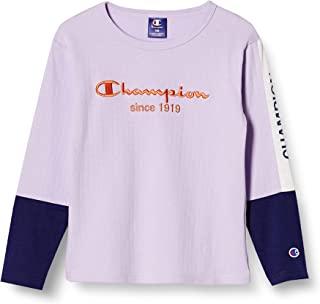 Champion T恤 长袖 分层风格 字母标志 袖子印花 撞色拼接 长袖T恤 TODDLER CK-U406 男童