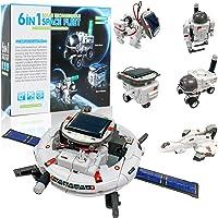 KATGROCHIR STEM 太阳能机器人玩具 6 合 1 科学机器人套件,学习科学构建实验套件,太阳能和电池驱动,8…