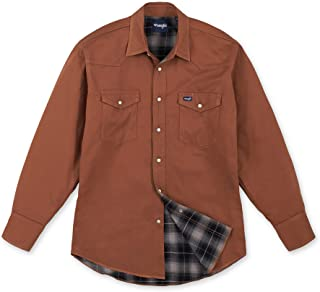 Wrangler 男士法蘭絨內襯工作襯衫