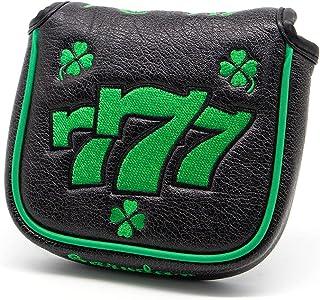 barudan 高尔夫大号木槌推杆盖套 - 方形推杆头套 - 黑色合成皮革 - 12.7 x 10.7 厘米适合所有品牌,高尔夫球手高尔夫配件