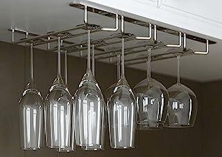 JMiles 橱柜下悬挂式高脚杯架可容纳 12 个*杯 镀铬色 UH-GH260-CHR