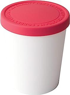 Tovolo 紧密贴合,可堆栈,甜食冰淇淋罐-覆盆子色
