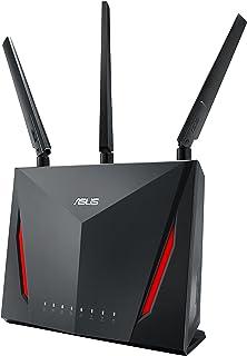 ASUS 华硕 RT-AC86U Wi-Fi AC2900(AI网状USB 3.0路由器,趋势科技AiProtection,AI网状,WTFast游戏加速器自适应QoS,双WAN 3G / 4G支持)