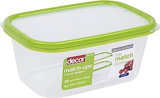 Décor 209000-004 配套基本长方形 | 食品储藏盒 | 非常适合准备餐食 | 不含双酚 A | 可用洗碗机清洗、冷冻和微波炉*,透明 / *,1.5 升