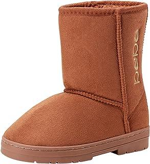 bebe 女孩带侧边标志的冬季靴(幼儿/小童/大童)