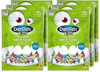 DenTek 儿童趣味牙线  去除食物和菌斑  75支(6包)