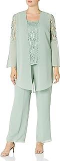 Le Bos 女士 3 件套蕾丝裤子套装