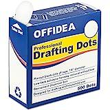 Offidea 专业绘画圆点 500 片 - 低缝隙预裁空白胶带 - 易于使用,绘画、蓝图、艺术家、工程员