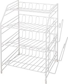 Tenma(天马)厨房钢丝 厨房收纳 白色 約43×31×46cm
